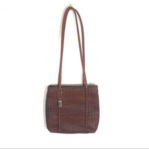 Nine west basket weave woven shoulder bag